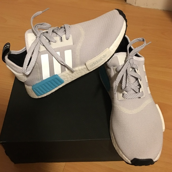 sports shoes 5d566 bd545 ... adidas nmd white grey and light blue
