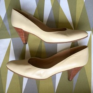 Charles Jourdan Shoes - Charles Jourdan vintage wood stack low heels pumps
