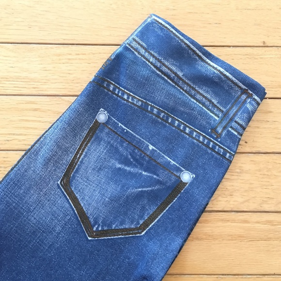 00216a9ee71a9f West Loop Pants | Faux Denim Leggings | Poshmark