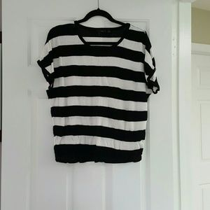 Tops - Cute striped top with little holes dispersed.
