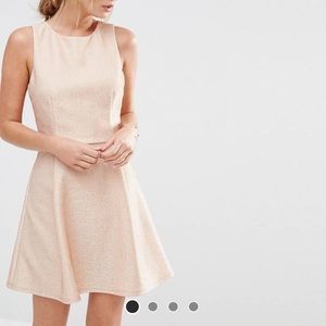 Asos champagne pink dress (special occasion)