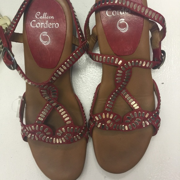 92133896a5ebf1 Colleen Cordero Shoes - Coleen Cordero red studded sandals.