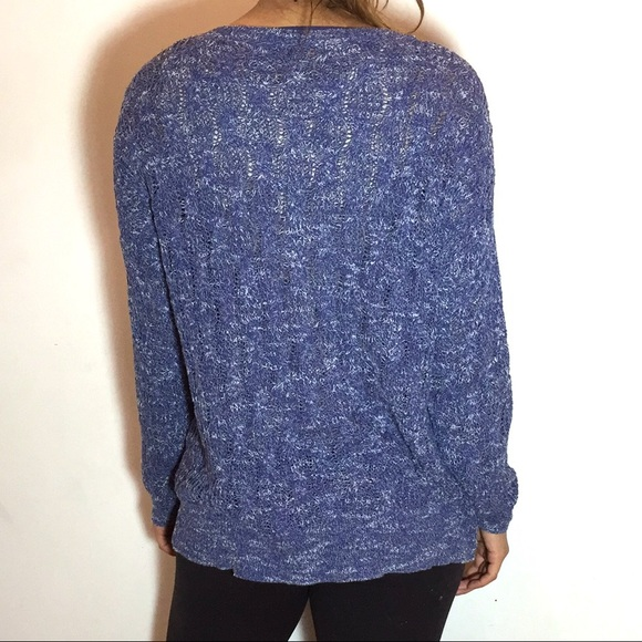 60% off Free People Sweaters - FREE PEOPLE Blue Marled Sweater ...