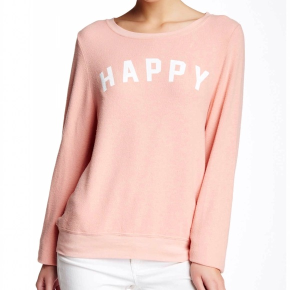 5c0bde0e80 Wildfox Sweaters | Nwt Happy Girl Baggy Beach Jumper | Poshmark