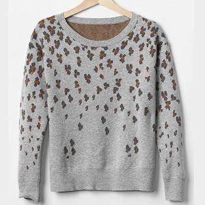 Gap Leopard sweater, size large