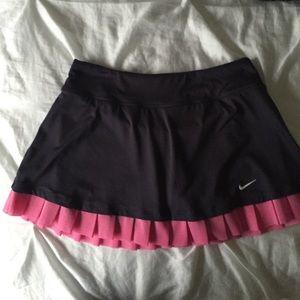 Gray/Pink Nike Tennis Skirt