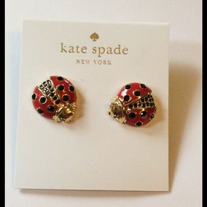 kate spade Jewelry - Kate Spade Garden Party Ladybug Earrings NWT