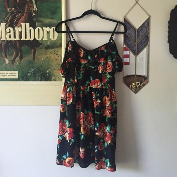 df42ab481e5 Xhilaration Target off shoulder floral dress