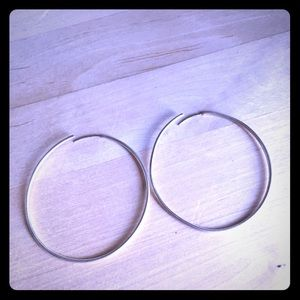 "2"" Silver Hoops by Banana Republic"
