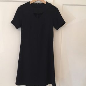 No. 6 Dresses & Skirts - No. 6 Navy Shift Dress with Keyhole sz Small
