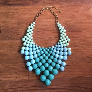 ✨Sale✨Teal/Blue Beaded Statement Necklace
