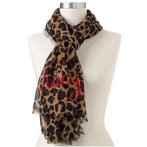 LAST‼️ JUICY COUTURE LEOPARD PRINT WOVEN SCARF