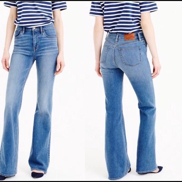 77% off J. Crew Denim - Tall Ashbury Flare Jeans In Parkmount Wash ...