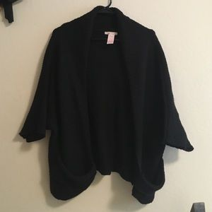 Tulle Sweaters - Black slouchy knitted sweater