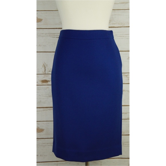 2 PENCIL SKIRT IN DOUBLE-SERGE WOOL J CREW TALL NO