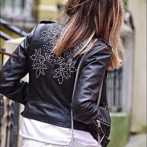 Zara Jackets & Blazers - Rare Zara Studded Leather Jacket