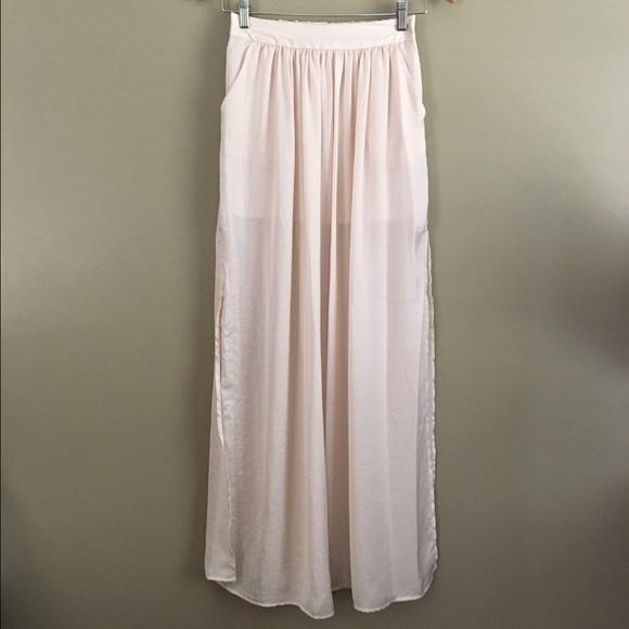 Urban Outfitters - Cream Colored High Slit Maxi Skirt from Katie's ...