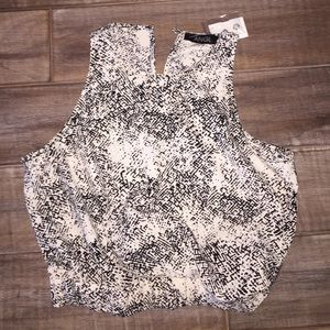 ANGL black and white patterned crop top!!