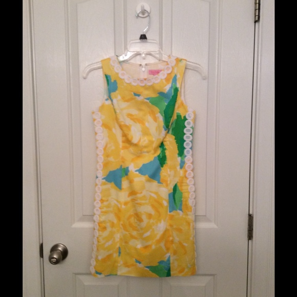 Lilly Pulitzer Dresses Yellow Rose Shift Dress Poshmark