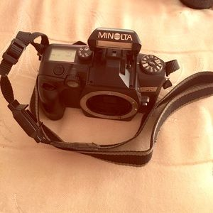 Used, A MINOLTA Film Camera, with 2 lenses & a Bag. for sale