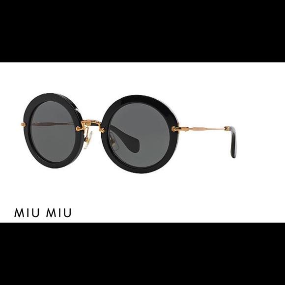 9235fb3d5514 Miu Miu 49mm Noir Retro Round sunglasses