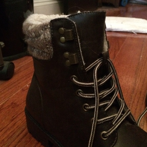 50% off JustFab Shoes - Brown Boots size 8 1/2 from Amey's