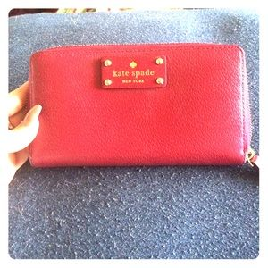 Kate spade, cranberry colored wallet