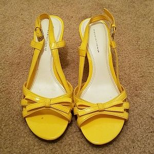 Predictions Shoes - Predictions Yellow Strappy Wedge