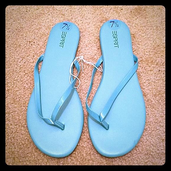 esprit new espirit teal slip on sandals firm price