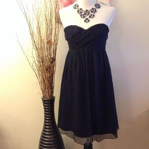J. Crew Dresses & Skirts - J. CREW TARYN DRESS STRAPLESS MIDNIGHT BLUE SILK