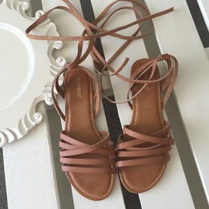 c83fea093f3a98 Lulu s Shoes - Desert Highness Tan Leg Wrap Sandals
