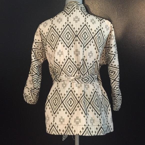 Madewell black and white poncho dress