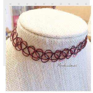 Woman's Choker tattoo Necklace. 