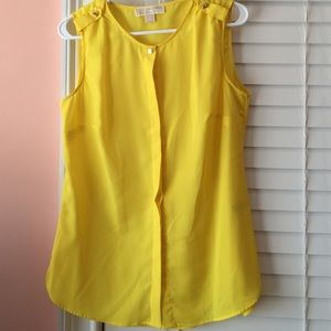 Michael Kors yellow blouse NW