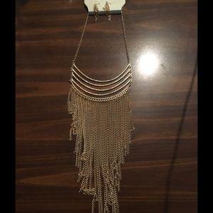 Sophia & Kate Gold Drop Necklace & Earring Set