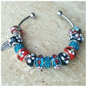 Salty Grace  Jewelry - Little ladybug charm bracelet