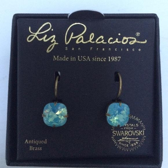 f044f2121 Liz Palacios Antique Brass Swarovski blue earrings.  M_57d1cf834225be9092005790