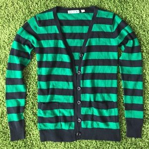 Urban Outfitters green/black cardigan size small