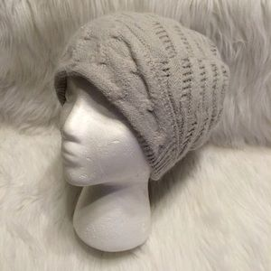Gray Knitted Beenie Hat