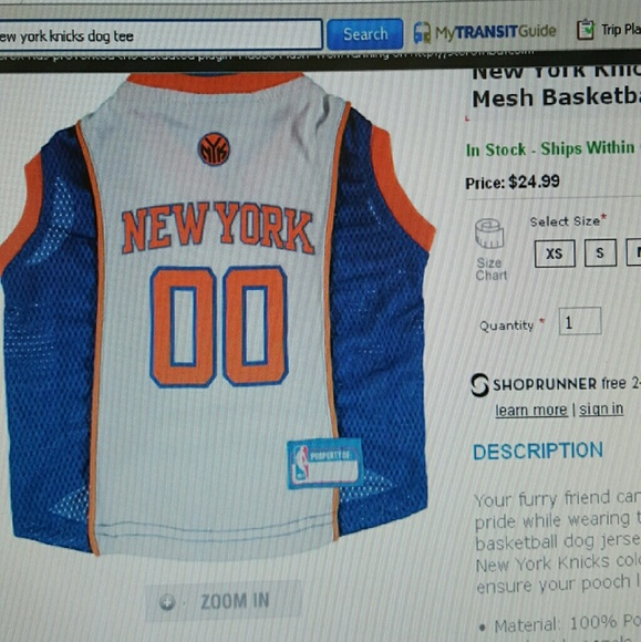 New you Knicks dog jersey ab15c463f
