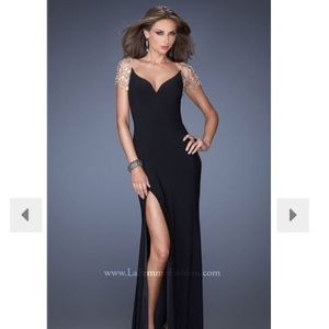 La Femme Black Prom Dress