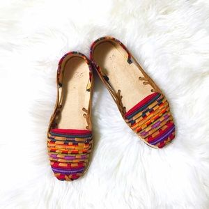 Shoes - Guatemala Textile & Genuine Leather Huarache Flats