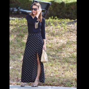 Forever 21 Dresses & Skirts - Polka dot maxi skirt