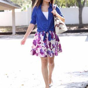Forever 21 Dresses & Skirts - Floral flounce skirt