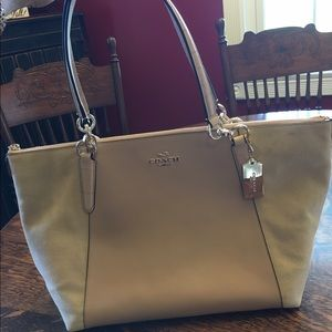 Coach Leather and Suede Ava Tote