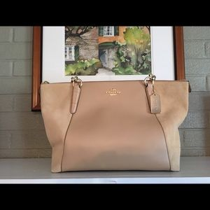 Coach Handbags - Coach Leather and Suede Ava Tote