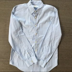 J.Crew blue and white stripe button up size M