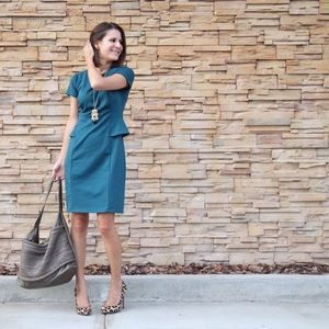 Mossimo Supply Co Dresses & Skirts - Turquoise peplum dress