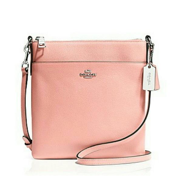 62 Off Coach Handbags Coach Light Pink Crossbody Purse