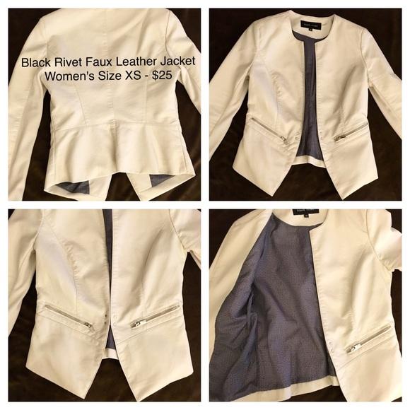 Black Rivet Jackets Coats Womens Faux Leather Jacket Poshmark